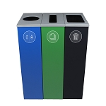 Spectrum Three-Stream Triple Slim Cube Recycling Station