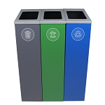 Spectrum Three-Stream Triple Slim Cube Recycling Station - Custom
