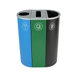 NYC Compliant Spectrum Three-Stream Slim Recycling Station