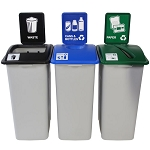Simple Sort XL Three-Stream Recycling Station - Custom