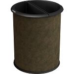 InnRoom Waste and Recycling Bin, Classic Smooth in Brown