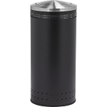Imprinted 360 with Swivel Lid Waste Receptacle in Black - 25 Gallon