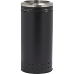 Imprinted 360 Open Top Waste Receptacle in Black - 25 Gallon