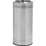 Imprinted 360 Open Top Waste Receptacle in Stainless Steel - 25 Gallon