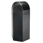 Hex 50 Gallon Trash Container w/ Dome Lid