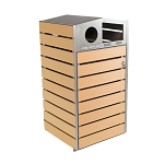 Woodview Dual Recycling & Waste Container