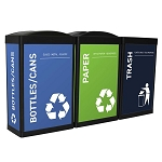 The Elite Ergocan Three-Stream Recycling Station