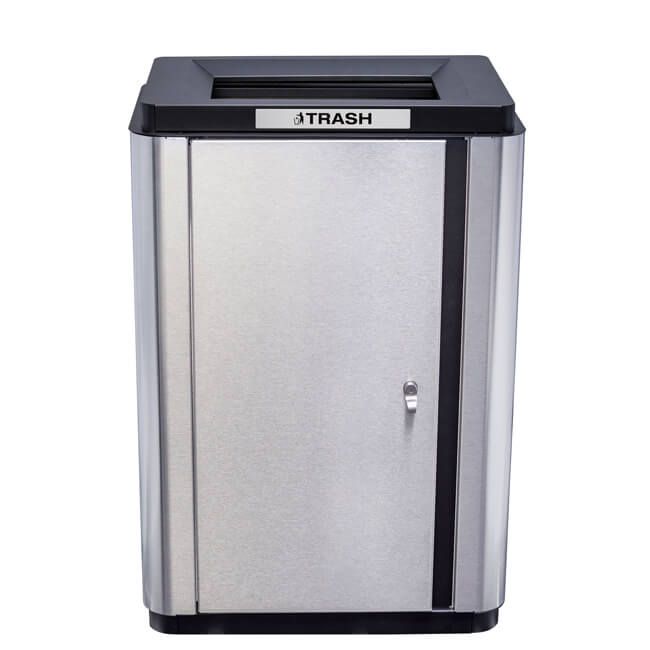 34 gallon echelon slim waste receptacle recycle away - Slimline waste bin ...