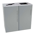 Black Tie Kaleidoscope XL Square Two-Stream Recycling Station - Gray