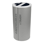 Black Tie Kaleidoscope Two-Stream Round Recycling Station - Gray