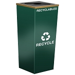 Metro Single Stream Recycling Receptacle in Custom Colors