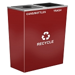 Metro Double Stream Recycling Receptacle in Custom Colors