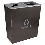 Metro Double-Stream Recycling Container in Hammered Charcoal