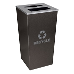 Metro XL Combo Recycling Receptacle in Hammered Charcoal