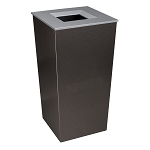 Metro XL Trash Receptacle in Hammered Charcoal