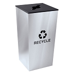 Metro XL Recycling Receptacle in Stainless Steel