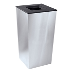 Metro XL Trash Receptacle in Stainless Steel