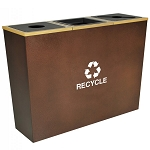 Metro Triple Stream Recycling Receptacles