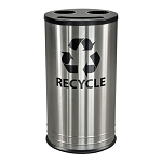 Three Slot Stainless Steel Recycling Container