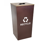 Metro XL Recycling Receptacle in Hammered Copper