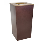 Metro XL Trash Receptacle in Hammered Copper