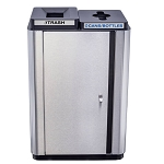 Echelon Slim Two-Stream Trash & Recycling Receptacle