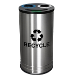 NYC Compliant Three Slot Stainless Steel Recycling Container