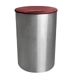 Premier Stainless Steel Waste & Recycling Receptacle with Color Top