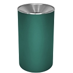 Premier Stainless Steel Waste & Recycling Receptacle with Color Body