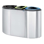 The Catalina Triple - 3-Stream Recycling Container