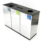 Edge Three-Stream Waste and Recycling Station
