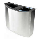 Wave Double Stream Recycling and Waste Container