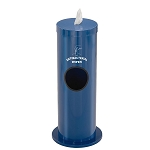 Disinfecting Wipe Dispenser w/Side Waste Opening & Message in Designer Colors