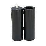 Wipe Dispenser w/Storage and Trash Receptacle Combo Station in Designer Colors