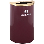 Glaro Half-Round Recycling Container 14 Gallon