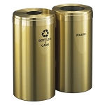 15-Gallon Glaro Two-Stream Recycling Station in Satin Brass