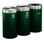 15-Gallon Glaro Three-Stream Recycling Station