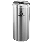 Glaro 12 Gallon Single Purpose Recycling Container in Satin Aluminum