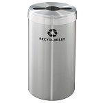 Glaro 23-Gallon VALUE SERIES Single-Purpose Recycling Container in Satin Aluminum