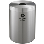 Glaro 41-Gallon VALUE SERIES Single-Purpose Recycling Container in Satin Aluminum