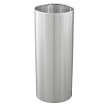Metal Wastebasket with Satin Aluminum finish