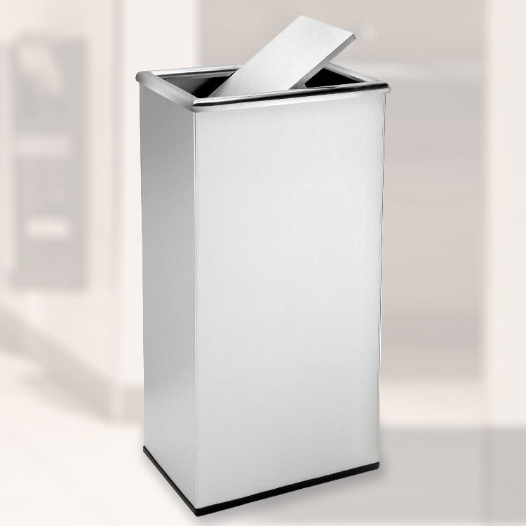 Rectangular Swivel Lid Waste Receptacle
