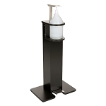 Foot Pump Operated Hand Sanitizer Station in Black