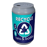 Big Can Recycler - 'Polar Blue' Cans & Bottles Recycling