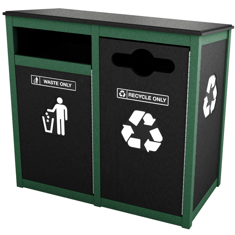 Keene Sideload Double Recycling Amp Waste Station Recycle Away