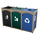Dorset Topload Triple Recycling Station - Custom