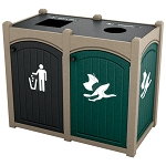 Dorset Topload Double Recycling Station - Custom