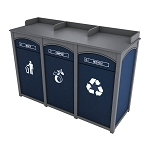Houston 3-Stream Foodservice Recycling Station