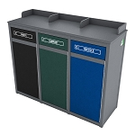 The Stratton Triple Foodservice Recycling Station