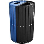 Split Two-Stream Recycling and Waste Barrel with Lift-Off Lid - Custom